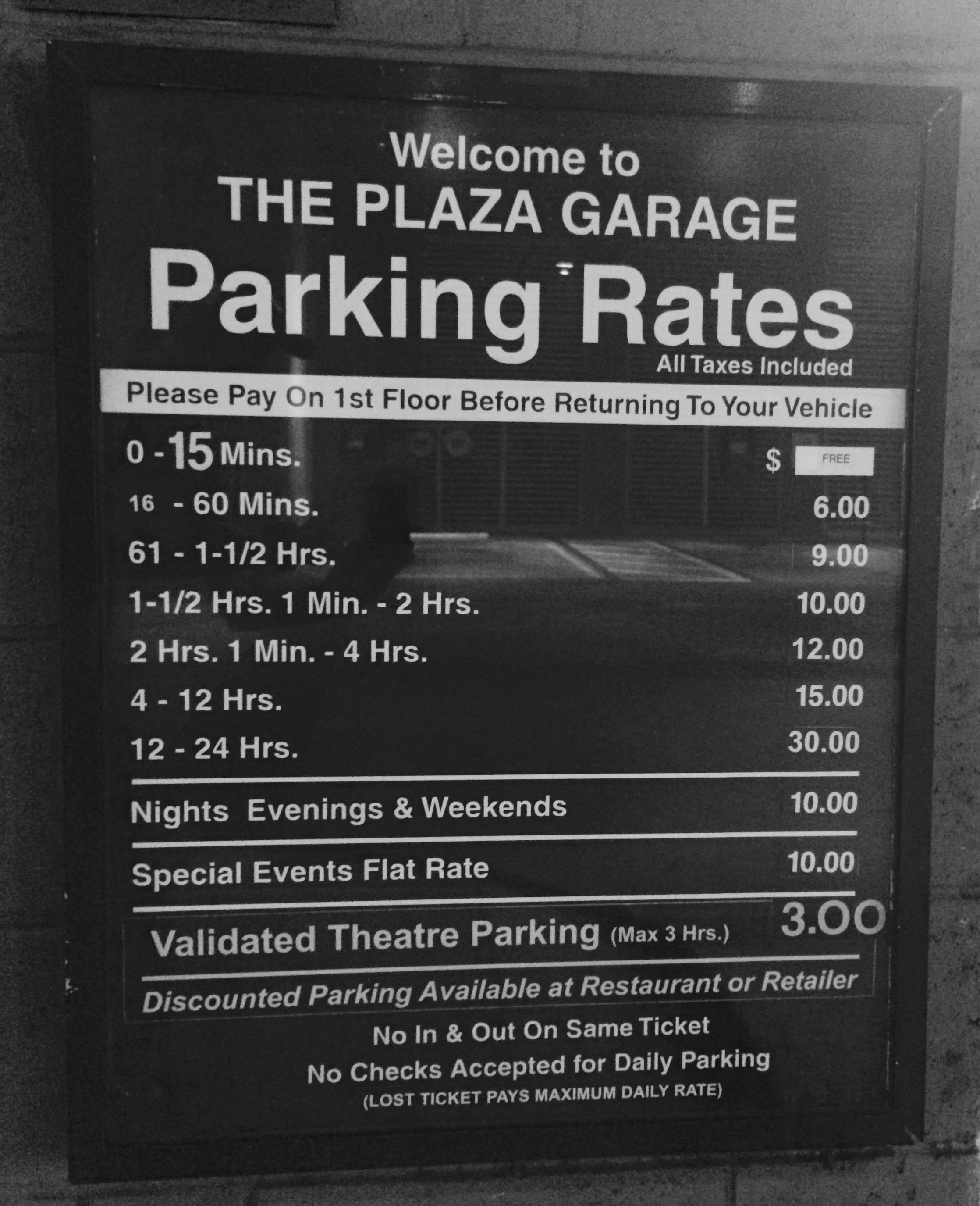 Parking Garage Prices: The Solaire At The Plaza