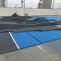 The Vue Sports Court Damage – 2