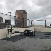 The Vue Sports Court Damage
